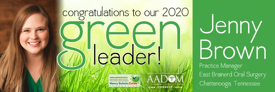 Ad announcing Jenny Brown as the Green Leader Winner 2020