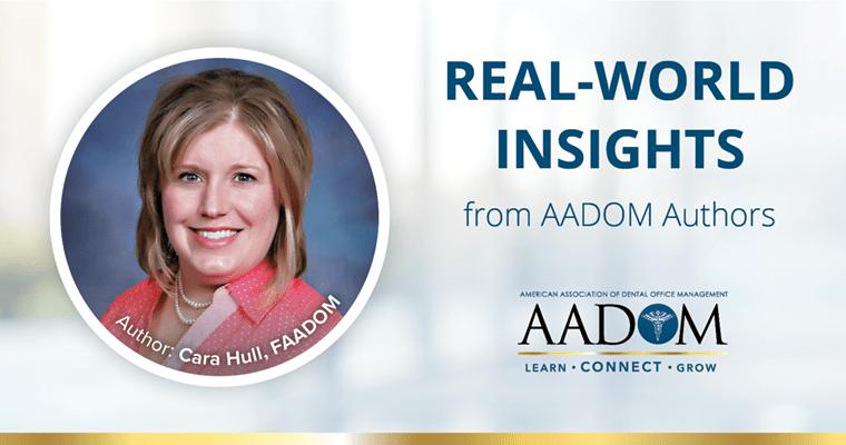 "Cara Hull, FAADOM with text, ""Real-world insights from AADOM authors"""
