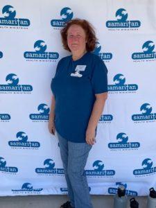 Jenn Randall in Blue Shirt