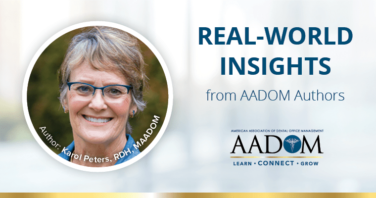 """Karol Peters, MAADOM with text, """"Real-world insights from AADOM authors"""""""